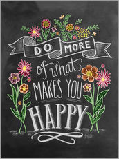 Tableau en plexi-alu  Do more of what makes you happy - Lily & Val