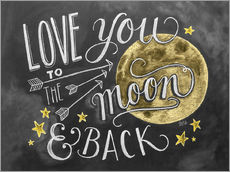 Sticker mural  Love you to the moon and back - Lily & Val