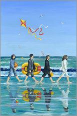 Tableau en plexi-alu  Plage Abbey Road - Peter Adderley