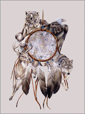 Tableau en plexi-alu  Dream catcher - Jody Bergsma