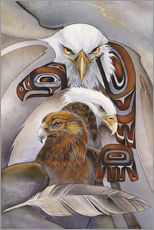 Sticker mural  Eagle spirit - Jody Bergsma