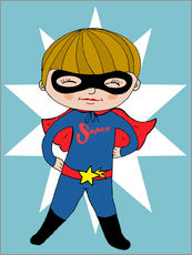 Sticker mural  Our superhero Max - Little Miss Arty