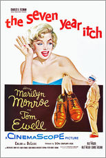Sticker mural  THE SEVEN YEAR ITCH, Marilyn Monroe, Tom Ewell