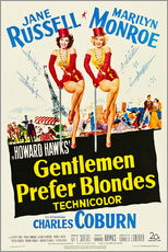 Sticker mural  GENTLEMEN PREFER BLONDES, Jane Russell, Marilyn Monroe