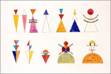 Sticker mural  Dessins d'une exposition, chiffres - Wassily Kandinsky