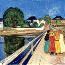 Edvard Munch - Girl on a Bridge
