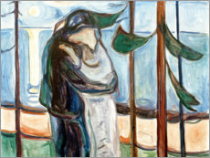 Sticker mural  Kiss on the beach - Edvard Munch