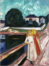 Sticker mural  The Girls on the Bridge - Edvard Munch