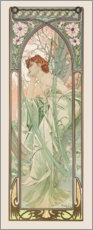 Sticker mural  Contemplation du soir - Alfons Mucha
