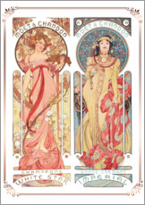Alfons Mucha - Moet & Chandon, Collage