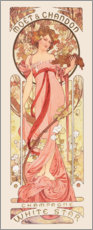 Tableau en plexi-alu  Moët & Chandon, White Star rose - Alfons Mucha