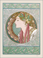 Sticker mural  Le Laurier - Alfons Mucha