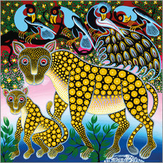 Sticker mural  Cheetah with peacock - Mzuguno