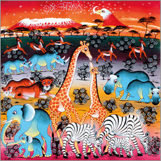 Tableau en plexi-alu  Animals under the stars - Mzuguno