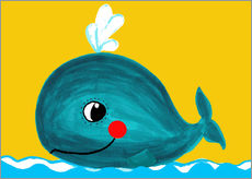 Sticker mural  Frida, the friendly whale - Little Miss Arty