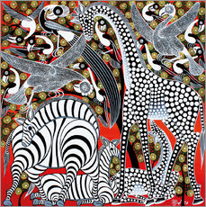 Sticker mural Black and White Animals of Africa