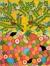 Sticker mural Fruits and birds