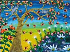 Sticker mural  Bees on a tree - Majidu