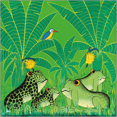 Sticker mural  Frogs in the swamp - Issa