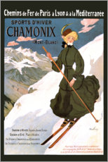 Tableau en plexi-alu  Sports d'hiver Chamonix - Travel Collection