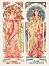 Sticker mural  Moët & Chandon - Alfons Mucha