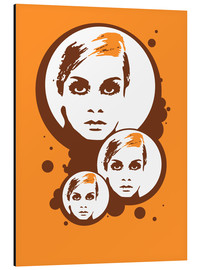 Tableau en aluminium  Twiggy Mathmos Orange - JASMIN!