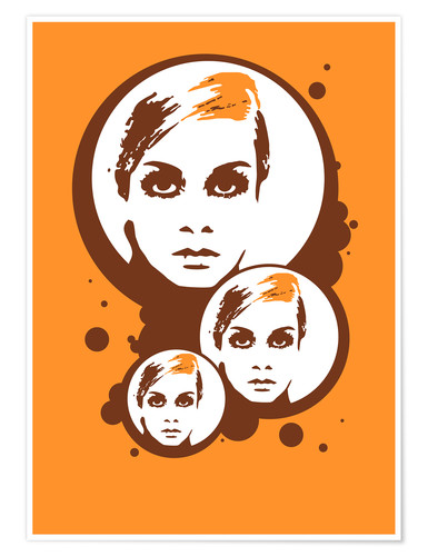 Poster Twiggy Mathmos Orange