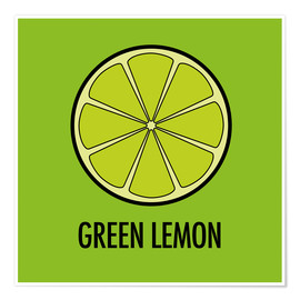 Poster  Green Lemon Juice - JASMIN!