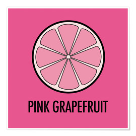 Poster Pink Grapefruit Juice