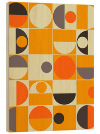 Tableau en bois  Pantone orange - Mandy Reinmuth