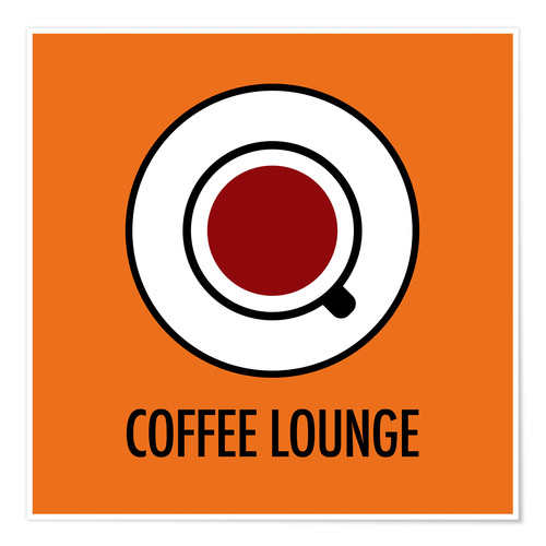 Poster Coffee Lounge, orange
