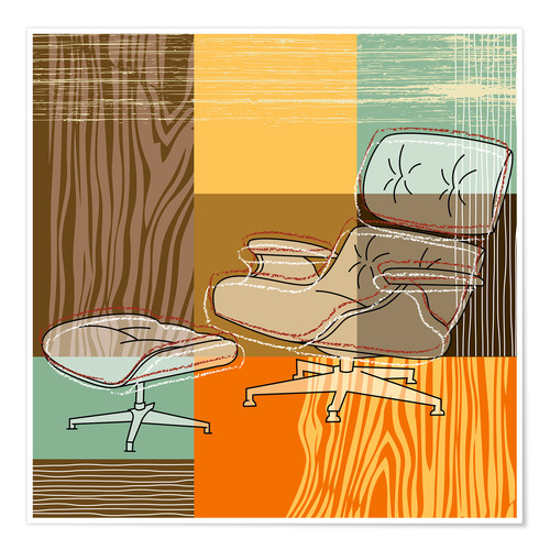 Poster Chaise lounge