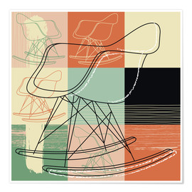 Poster rocking chair