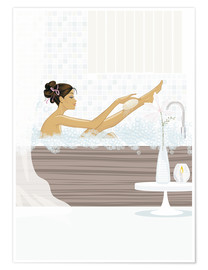 Poster  Dans le bain - Mike Wall