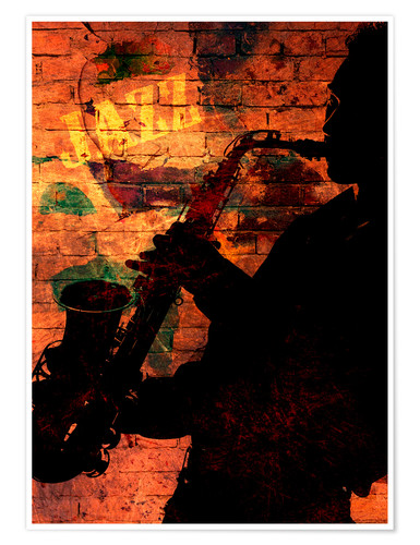Poster Saxophoniste
