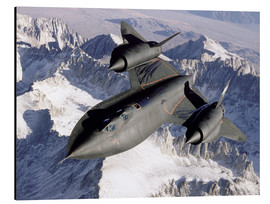 Alu-Dibond  Lockheed SR-71 Blackbird en plein vol - Stocktrek Images