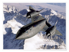 Poster  Lockheed SR-71 Blackbird en plein vol - Stocktrek Images