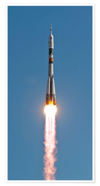 Poster  The Soyuz TMA-18 rocket - Stocktrek Images