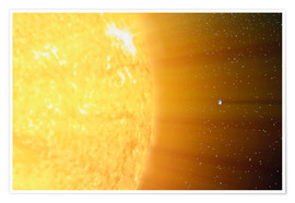 Poster  The relative sizes of the Sun and the Earth - Stocktrek Images