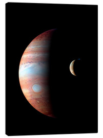 Tableau sur toile  Jupiter and its volcanic moon Lo - Stocktrek Images