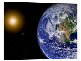 Forex  Earth with water-bearing moon - Stocktrek Images