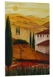 Tableau en PVC  Idylle toscane 3 - Christine Huwer