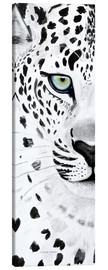 Toile  The leopard - panorama - Annett Tropschug