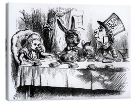 Toile  The Mad Hatter's Tea Party - John Tenniel