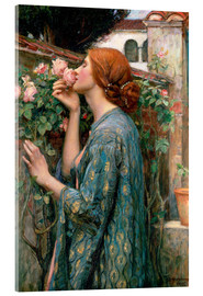 Tableau en verre acrylique  L'âme de la Rose - John William Waterhouse
