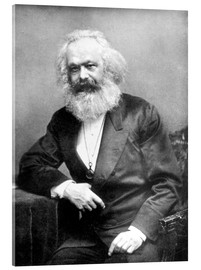 Verre acrylique  Portrait de Karl Marx - English Photographer