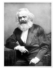 Poster  Portrait de Karl Marx - English Photographer