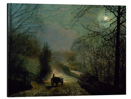 Tableau en aluminium  Forge Valley - John Atkinson Grimshaw