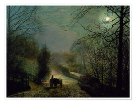 Poster  Forge Valley - John Atkinson Grimshaw