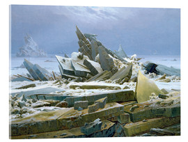 Verre acrylique  The Polar Sea - Caspar David Friedrich